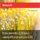 phthalates vegetable oil by gcms