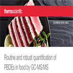 routine robust quantification pbdes food by gcmsms